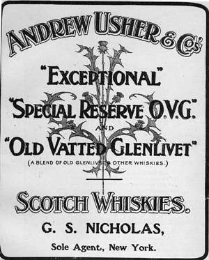 Old Vatted Glenlivet Blended produzido por Andrew Usher