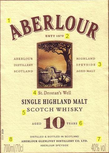 Entendendo o Rótulo do Single Malt Aberlour 10 Anos